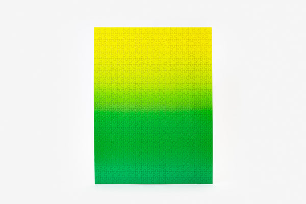 Gradient Puzzle - Green/Yellow