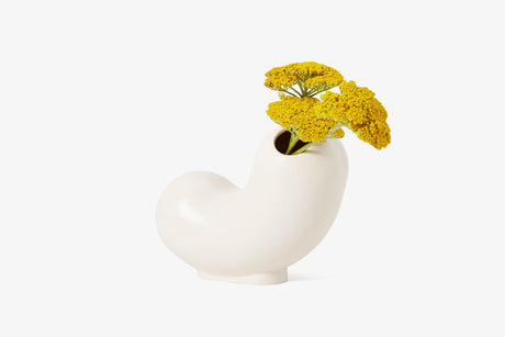 Kirby Vase - Curly  (white)