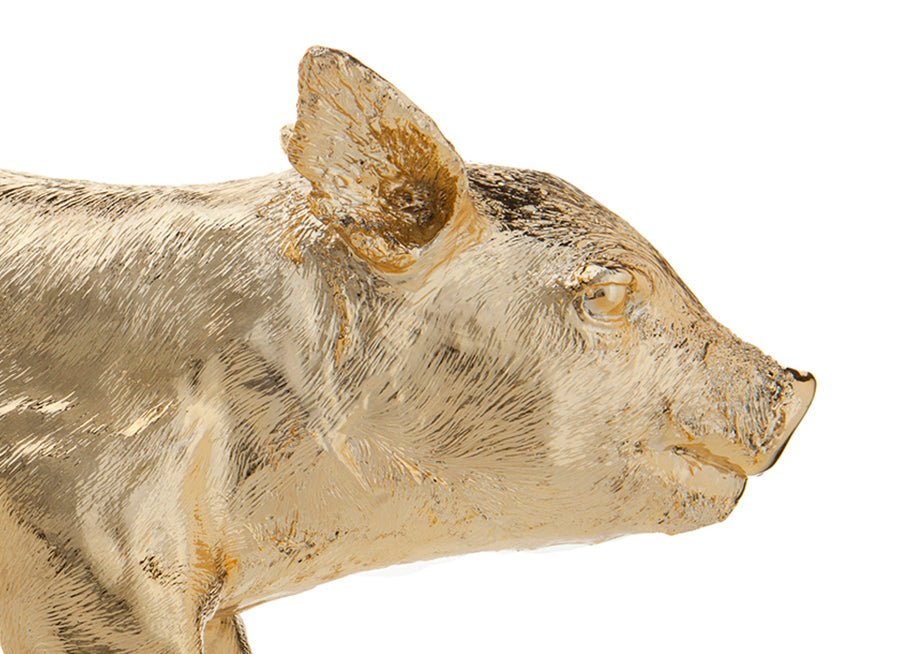 Reality Bank in the Form of a Pig - Gold Chrome