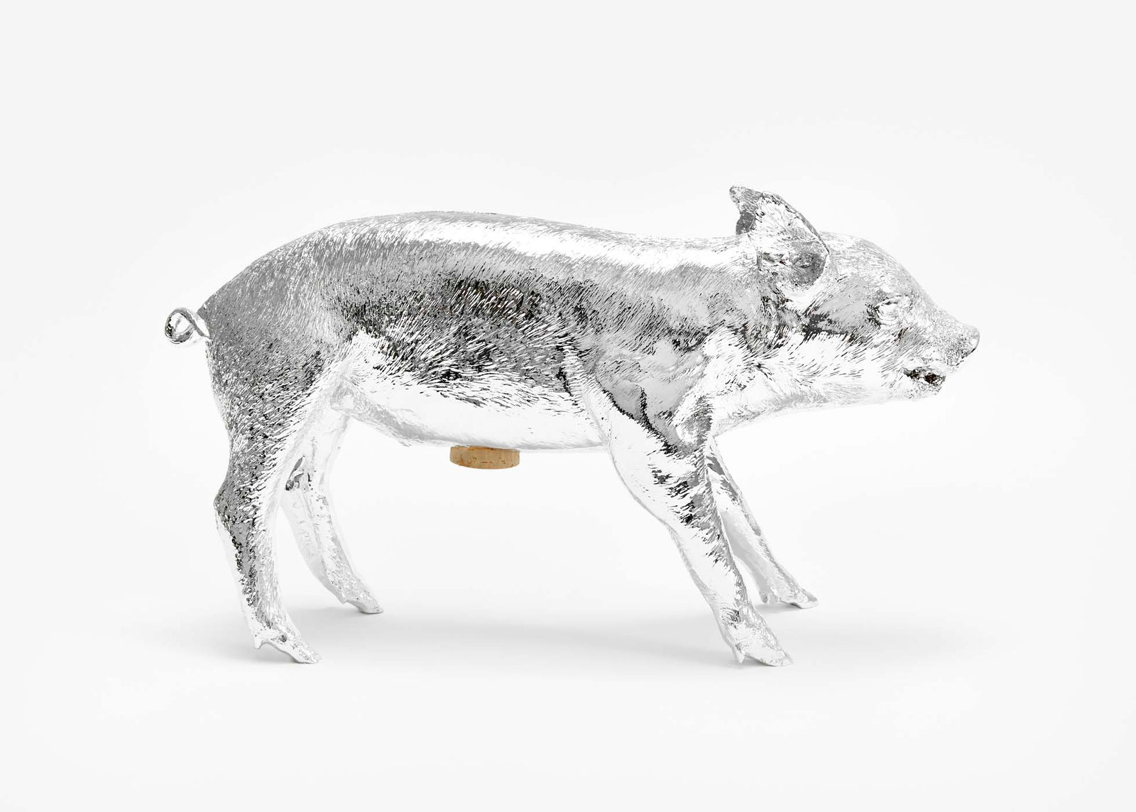 Reality Bank in the Form of a Pig - Silver Chrome