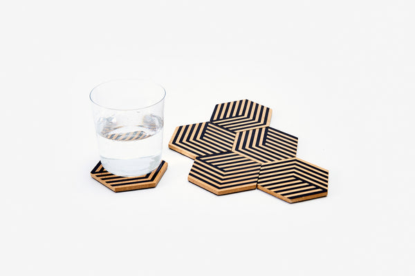Table Tiles Optic - Black