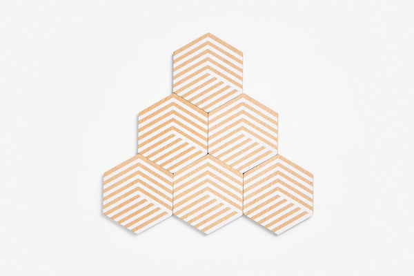 Table Tiles Optic - White