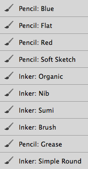 Photoshop Inking Brush | Frenden