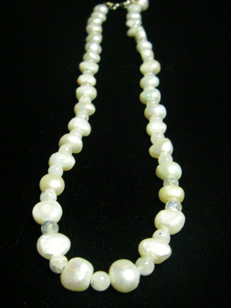 White Pearl & White Pearl Silver Necklace - Leila Haikonen Jewellery