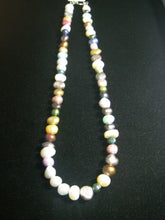 Multi Colour Pearl Silver Necklace - Leila Haikonen Jewellery