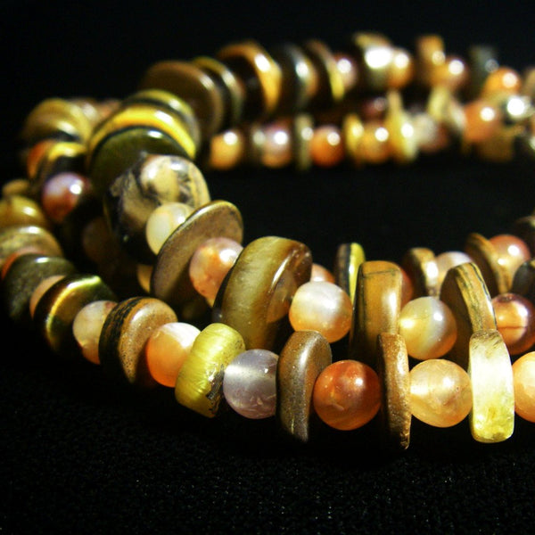 Carnelian & Tigers Eye Silver Necklace - Leila Haikonen Jewellery