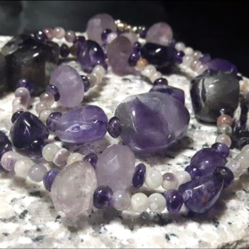 Gorgeous Amethyst Silver Necklace - Leila Haikonen Jewellery