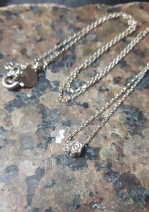 Rose Silver Chain Necklace - Leila Haikonen Jewellery