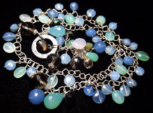 Mixed Blue Chalcedony & Silver Necklace - Leila Haikonen Jewellery - 2