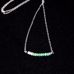 Green Chrysocolla & Silver Necklace - Leila Haikonen Jewellery