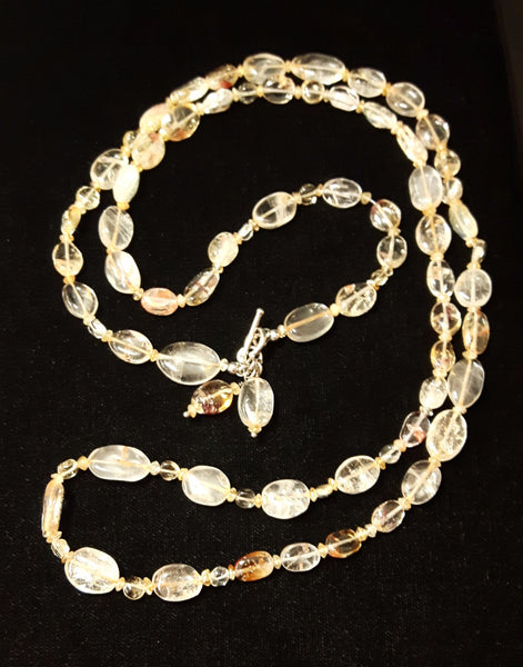 Citrine Silver Necklace - Leila Haikonen Jewellery - 3