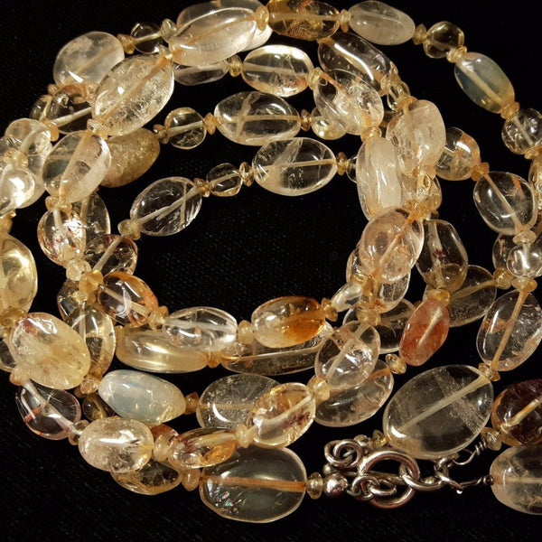 Citrine Silver Necklace - Leila Haikonen Jewellery - 1