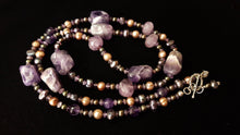 Luxurious Amethyst & Pearls Silver Necklace - Leila Haikonen Jewellery - 6