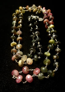 Rainbow Tourmaline & Silver Necklace - Leila Haikonen Jewellery