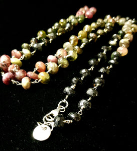 Rainbow Tourmaline & Silver Necklace - Leila Haikonen Jewellery - 1