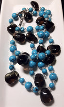 Turquoise, Smoky Quartz & Silver Necklace - Leila Haikonen Jewellery