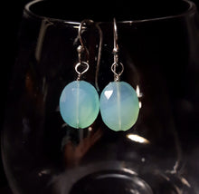 Blue Chalcedony Silver Earrings - Leila Haikonen Jewellery - 2