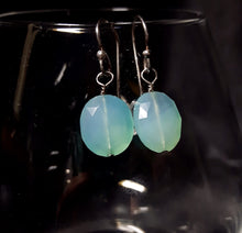 Blue Chalcedony Silver Earrings - Leila Haikonen Jewellery - 4