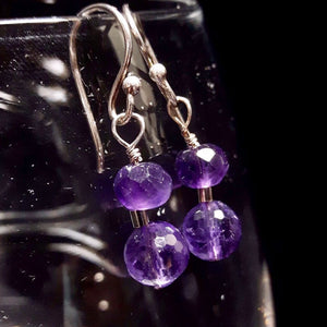 Amethyst & Silver Earrings - Leila Haikonen Jewellery
