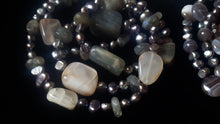 Labradorite, Moonstone & Pearl Necklace - Leila Haikonen Jewellery
