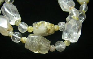 Rutilated Quartz Silver Necklace - Leila Haikonen Jewellery