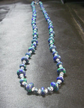 Azure Malachite, Blue Pearl, Clear Quartz, Silver Necklace - Leila Haikonen Jewellery
