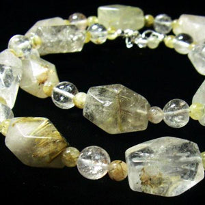 Rutilated Quartz Silver Necklace - Leila Haikonen Jewellery - 1