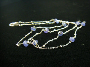 Sapphire Sterling Silver Chain Necklace - Leila Haikonen Jewellery - 3