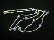 Sapphire Sterling Silver Chain Necklace - Leila Haikonen Jewellery - 4