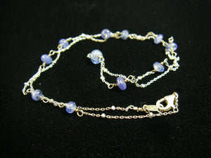 Sapphire Sterling Silver Chain Necklace - Leila Haikonen Jewellery - 6