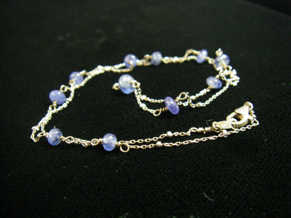 Sapphire Sterling Silver Chain Necklace - Leila Haikonen Jewellery - 5