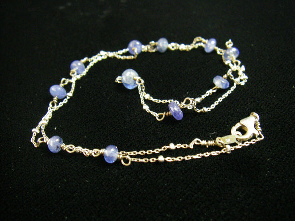 Sapphire Sterling Silver Chain Necklace - Leila Haikonen Jewellery - 2