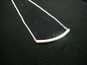 Silver Tube Sterling Silver Chain Necklace - Leila Haikonen Jewellery
