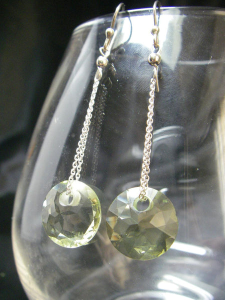 Yummy Lemon Citrine Drop Silver Earrings - Leila Haikonen Jewellery