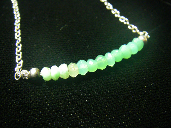 Green Chrysocolla & Silver Necklace - Leila Haikonen Jewellery - 4