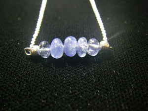 Luxurious Blue Sapphire Silver Necklace - Leila Haikonen Jewellery