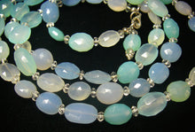 Blue, Lilac & Clear Chalcedony Silver Necklace - Leila Haikonen Jewellery