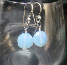 Lovely Blue Chalcedony Silver Earrings - Leila Haikonen Jewellery