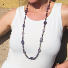 Luxurious Amethyst & Pearls Silver Necklace - Leila Haikonen Jewellery - 9