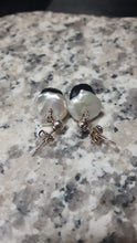 White Pearls, Black Onyx & Silver Earrings - Leila Haikonen Jewellery