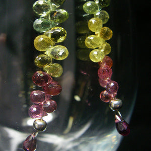 Rainbow Tourmaline & Sterling Silver Earrings - Leila Haikonen Jewellery
