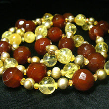 Carnelian & Citrine, Pearl Silver Necklace - Leila Haikonen Jewellery - 3