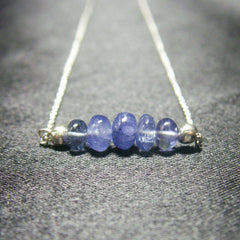 Sapphire, Sterling Silver Necklace