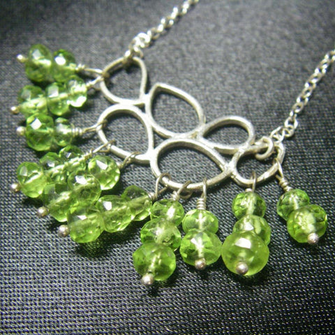 Peridot, Silver Necklace