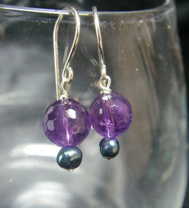 Luxury Amethyst, Blue Pearl Silver Earrings - Leila Haikonen Jewellery