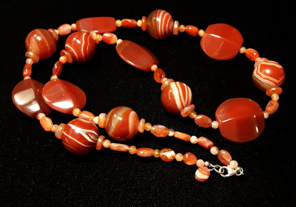 Carnelien & Silver Necklace - Leila Haikonen Jewellery - 2