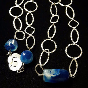 Blue Chalcedony Silver Necklace - Leila Haikonen Jewellery