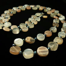 Moonstone & Pearl Silver Necklace - Leila Haikonen Jewellery