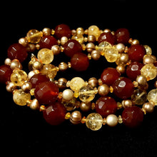 Carnelian & Citrine, Pearl Silver Necklace - Leila Haikonen Jewellery - 4