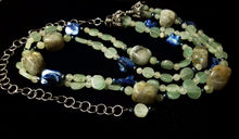 Labrdorite, Aventurine & Blue Shell Silver Necklace - Leila Haikonen Jewellery - 4